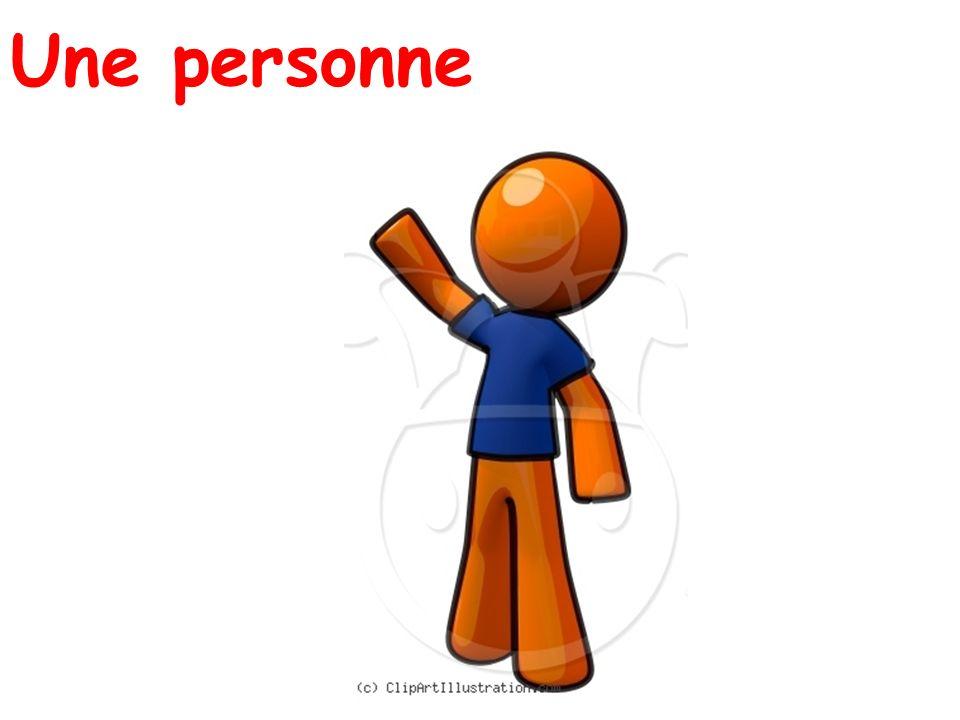 Une personne
