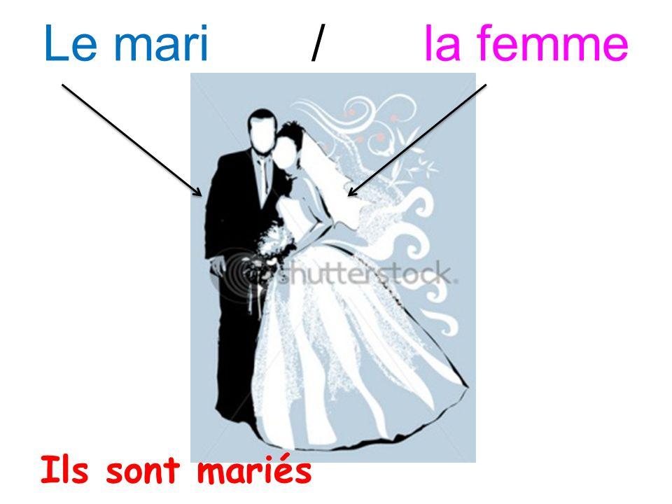 Le mari / la femme Ils sont mariés