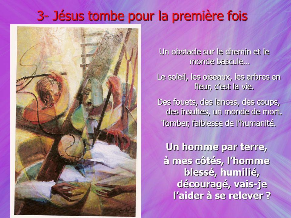 3- Jésus tombe pour la première fois