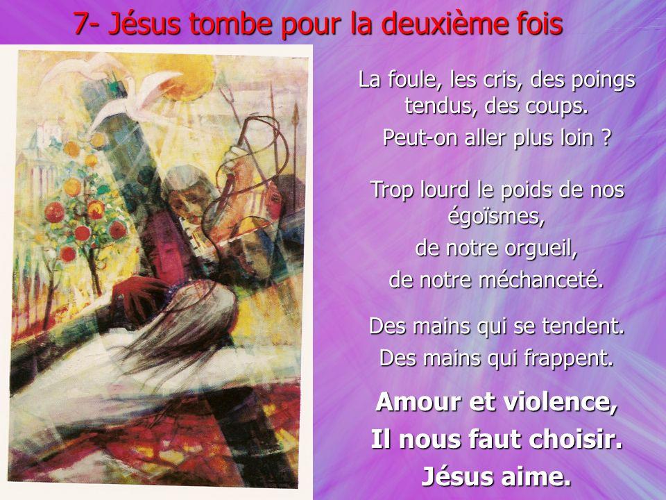 7- Jésus tombe pour la deuxième fois
