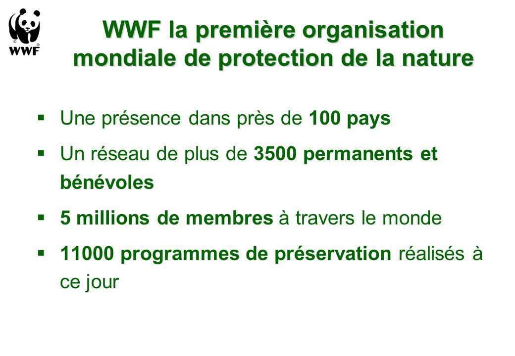 WWF la première organisation mondiale de protection de la nature