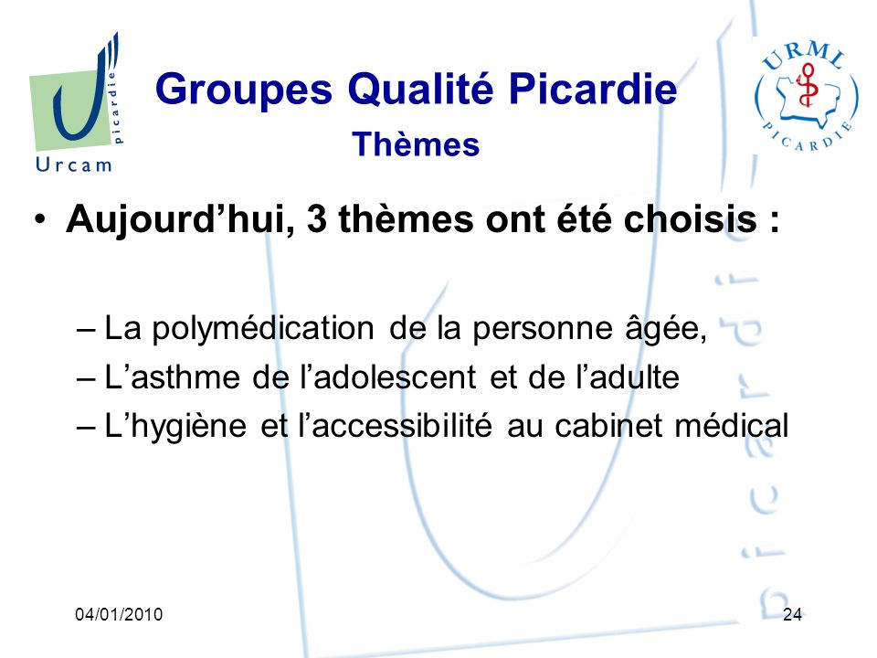 Groupes Qualité Picardie Thèmes