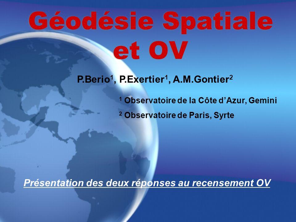 Géodésie Spatiale et OV