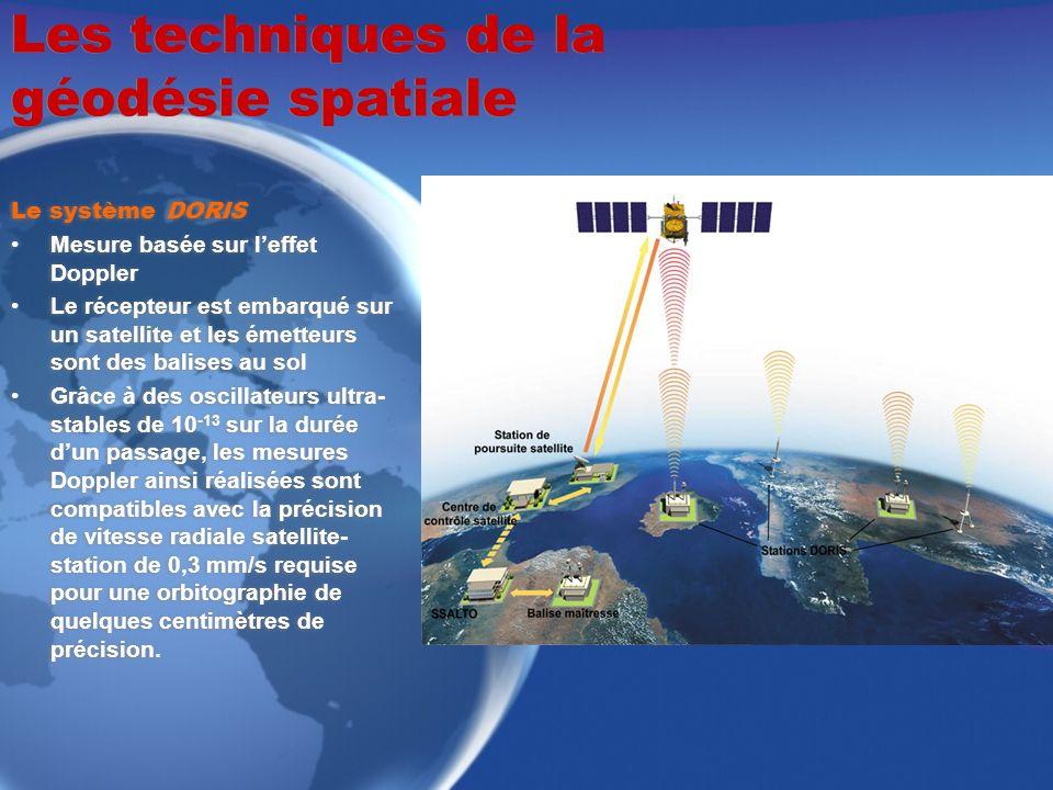 Les techniques de la géodésie spatiale