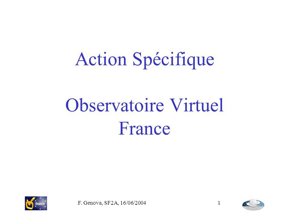 Action Spécifique Observatoire Virtuel France