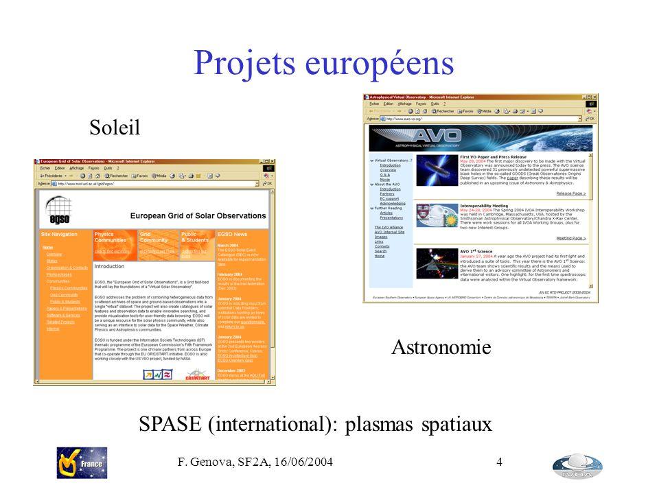 Projets européens Soleil Astronomie