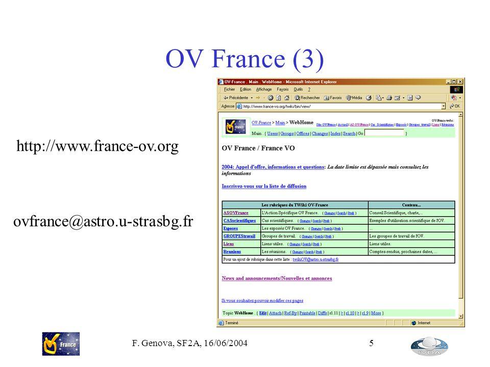 OV France (3) http://www.france-ov.org ovfrance@astro.u-strasbg.fr