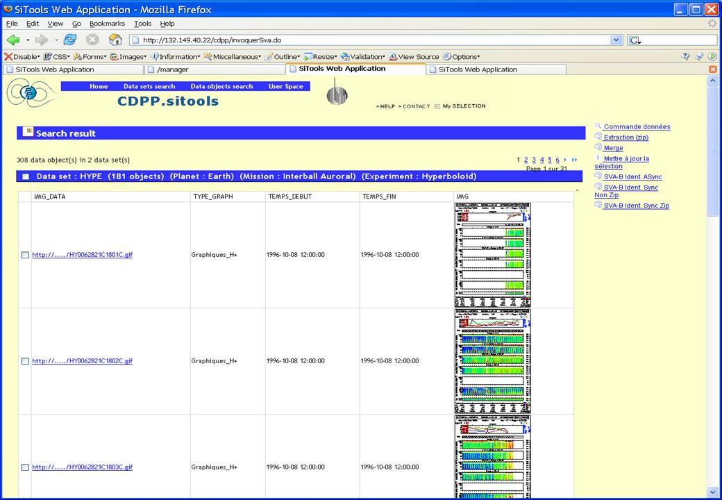Un autre exemple Présentation SITools – IAS, juin 2006