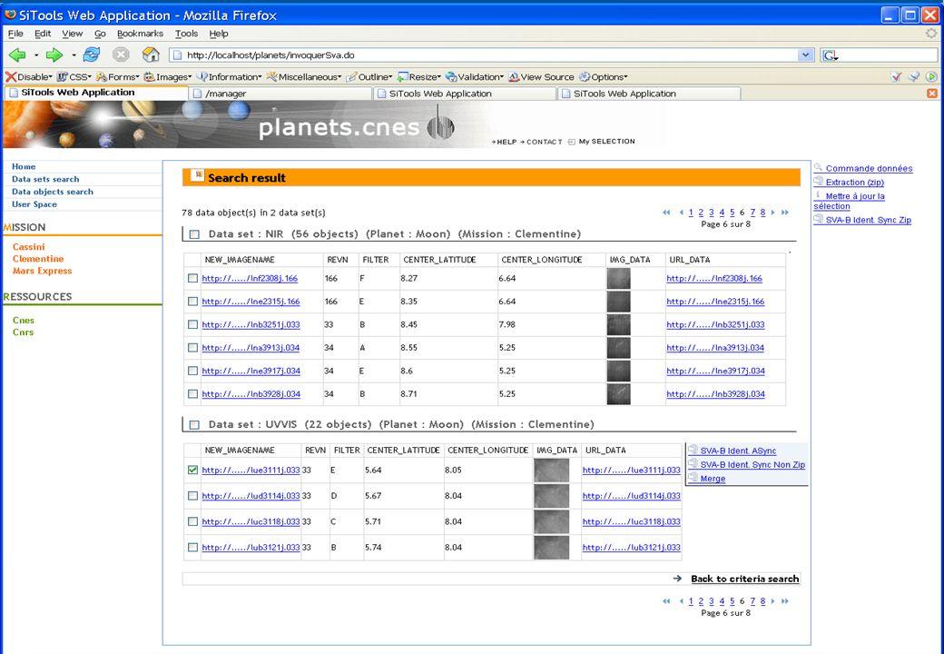 Utilisation d'un SVA Merge qui fait une mosaique des données