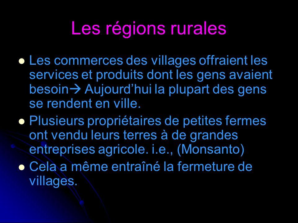 Les régions rurales