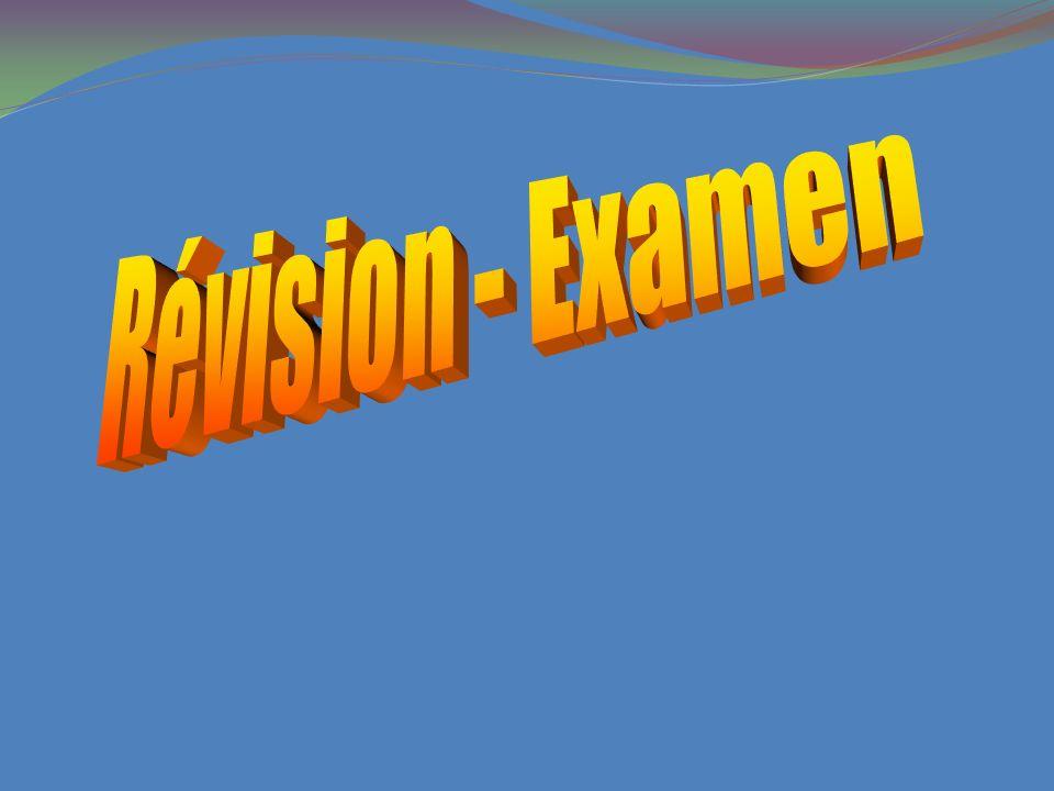 Révision - Examen