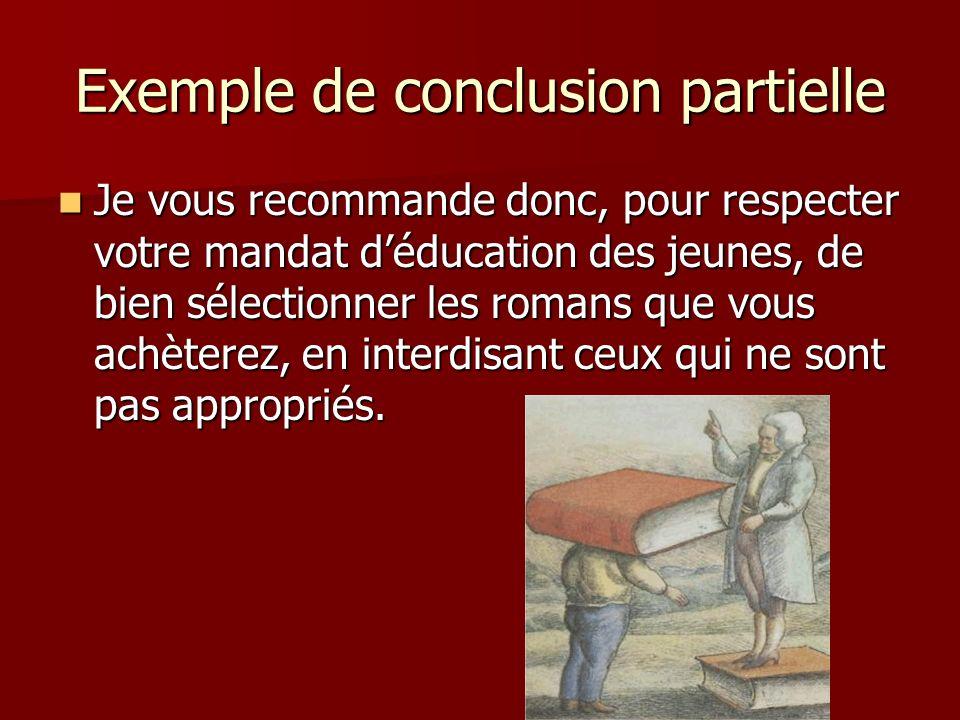 Exemple de conclusion partielle