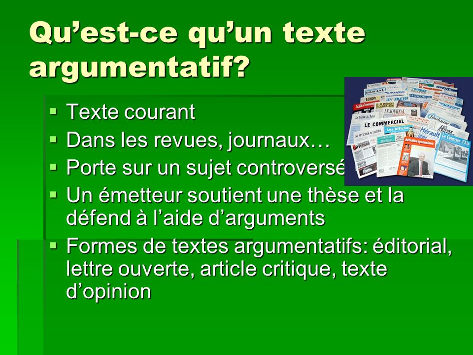 pr sentation sur le texte argumentatif ppt video online t l charger. Black Bedroom Furniture Sets. Home Design Ideas