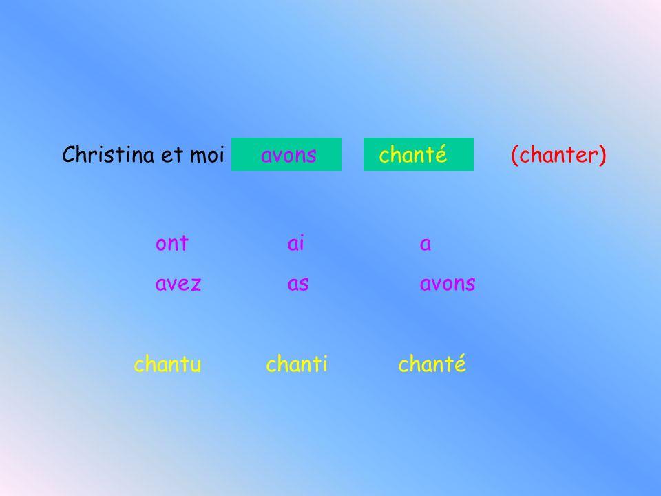 Christina et moi (chanter)
