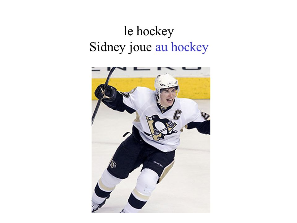 le hockey Sidney joue au hockey