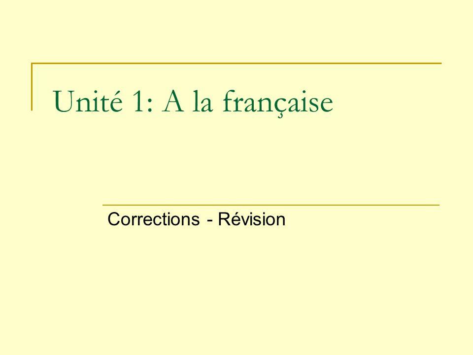 Corrections - Révision