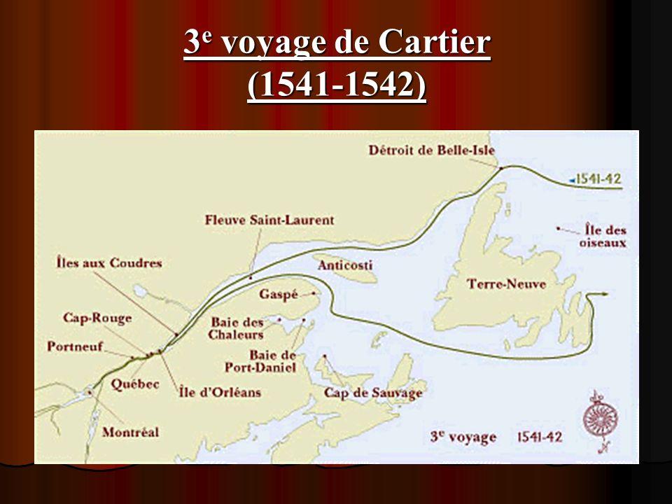 3e voyage de Cartier (1541-1542)