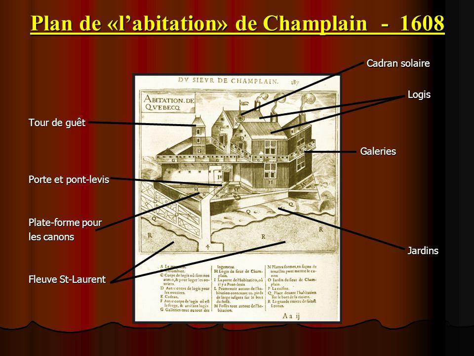 Plan de «l'abitation» de Champlain - 1608
