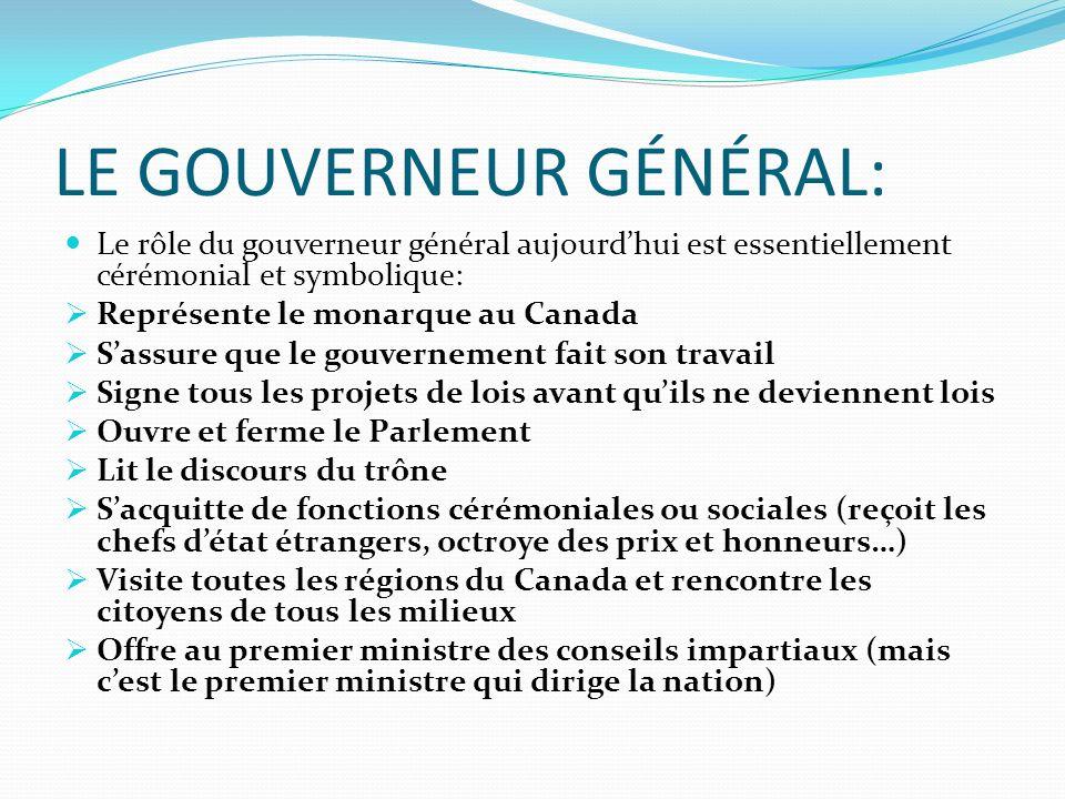LE GOUVERNEUR GÉNÉRAL: