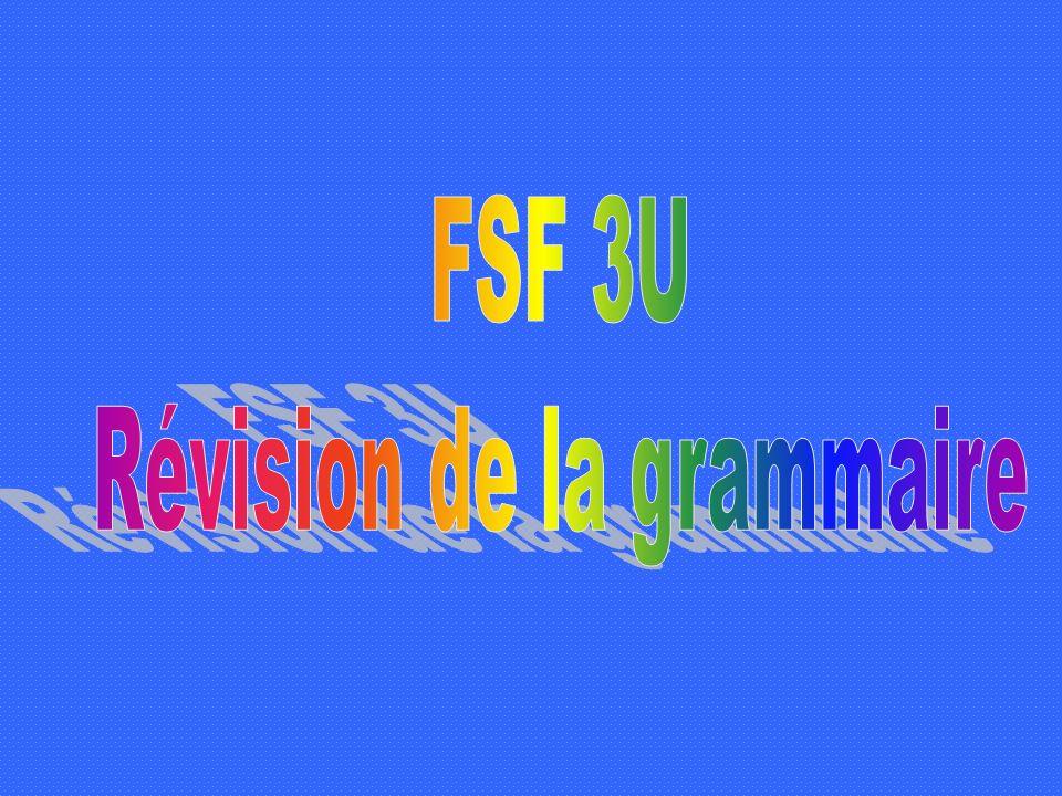 Révision de la grammaire