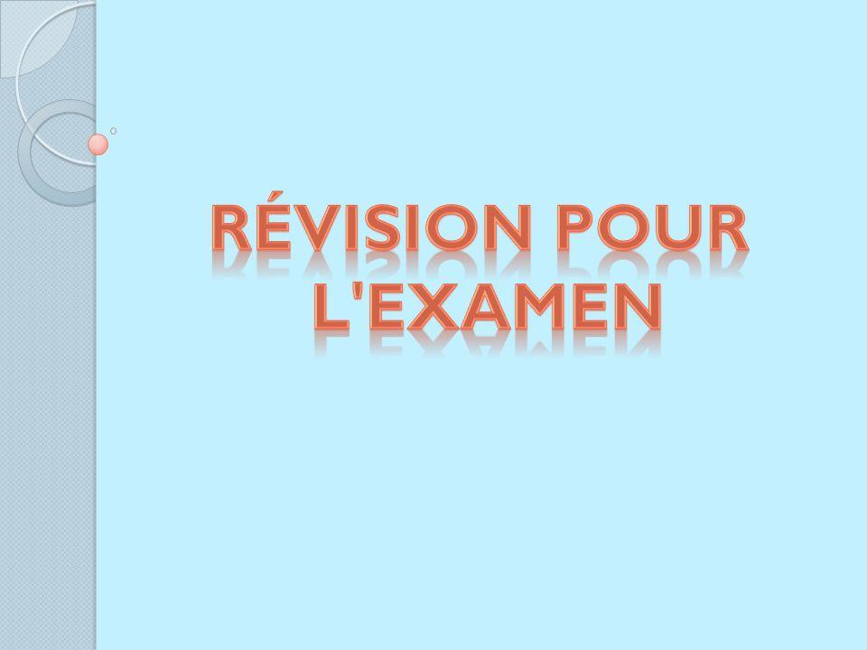 Révision pour l Examen