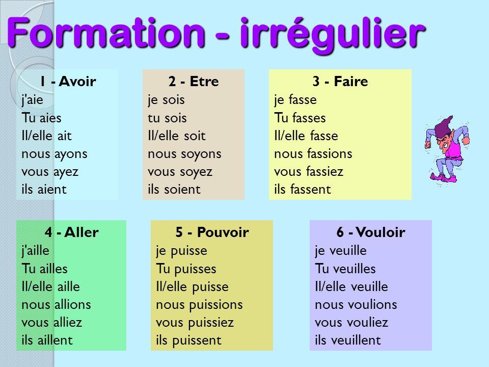 Formation - irrégulier