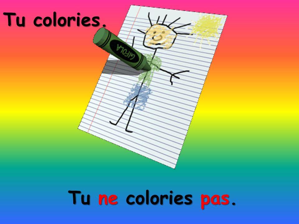 Tu colories. Tu ne colories pas.