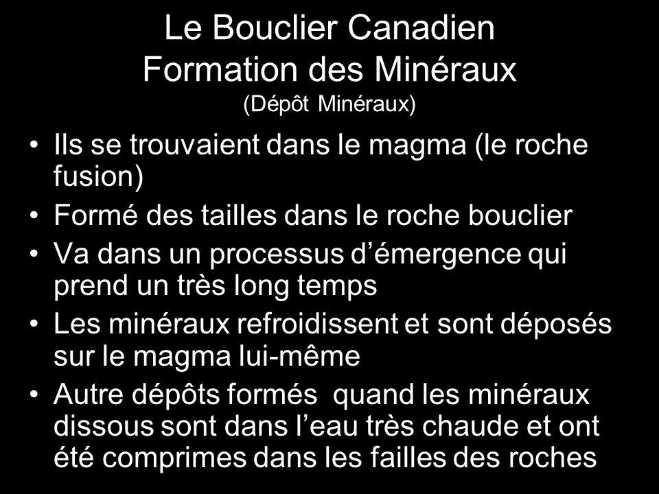 Le Bouclier Canadien Formation des Minéraux (Dépôt Minéraux)