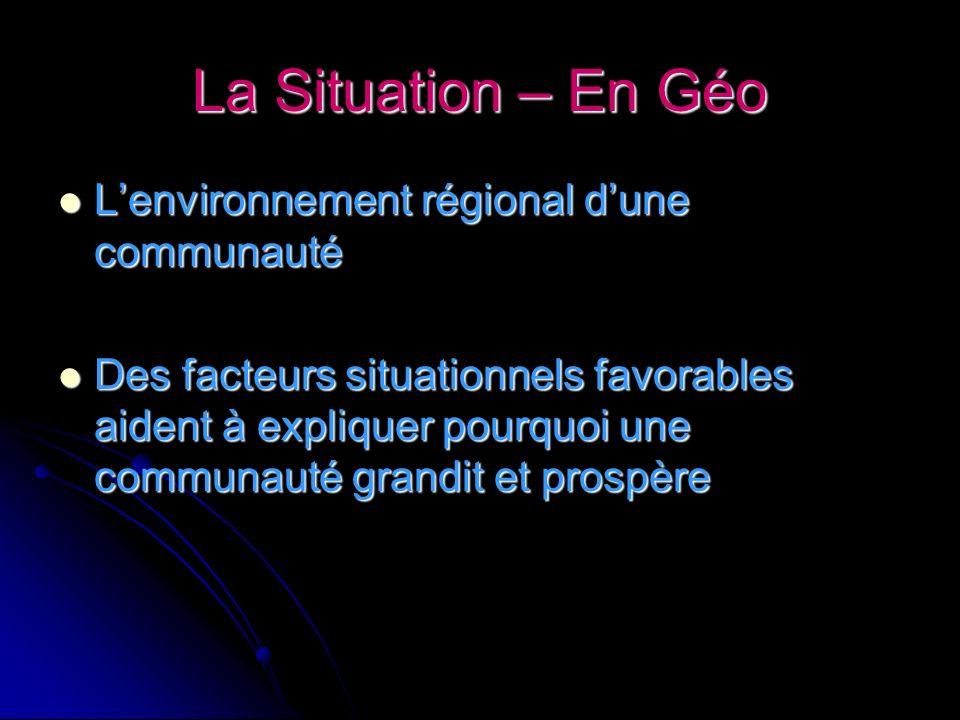 La Situation – En Géo L'environnement régional d'une communauté
