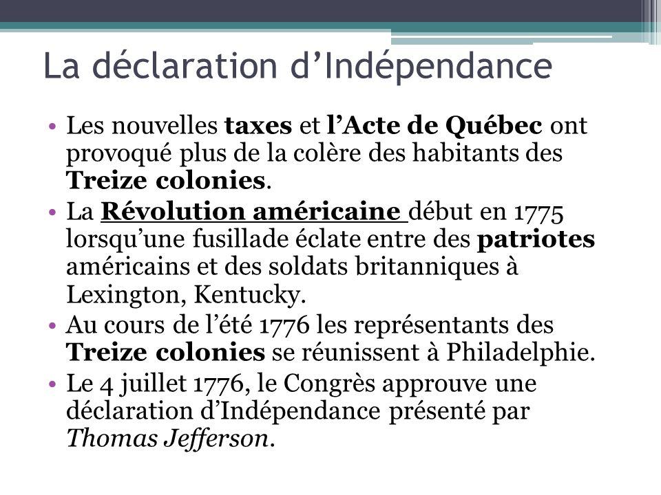 La déclaration d'Indépendance