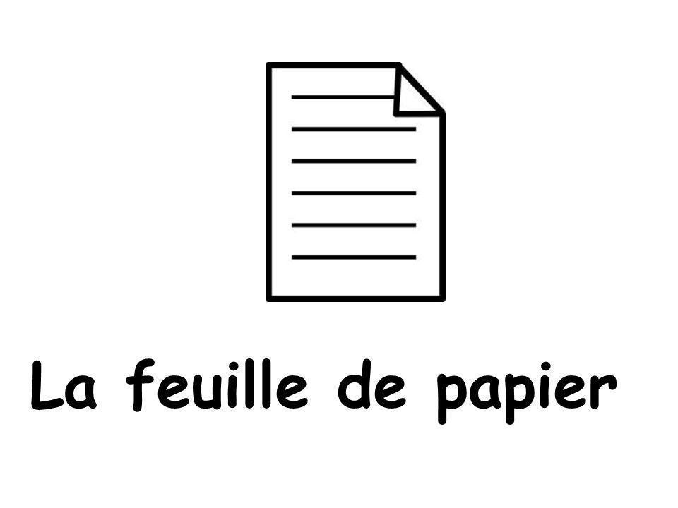 La feuille de papier