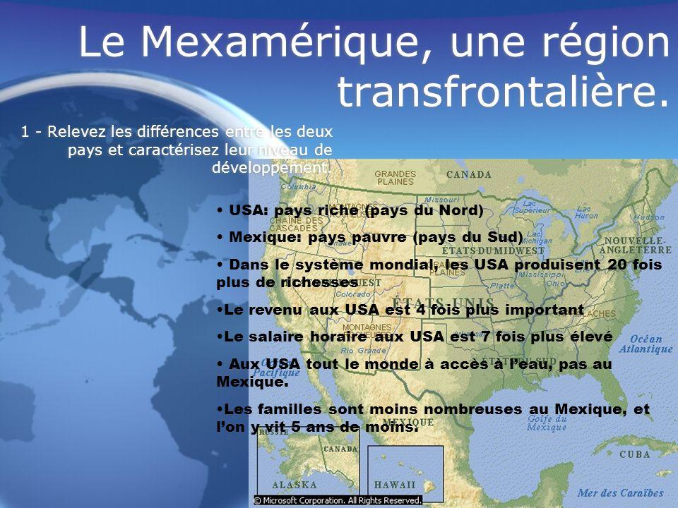 Le Mexamérique, une région transfrontalière.