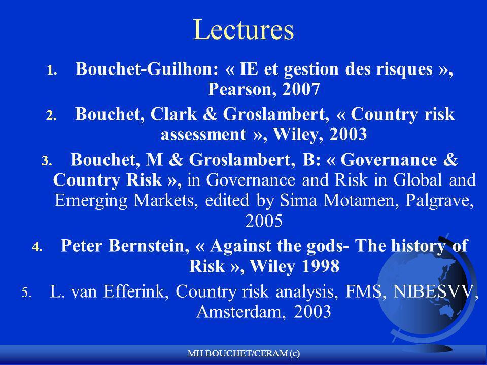 Lectures Bouchet-Guilhon: « IE et gestion des risques », Pearson, 2007