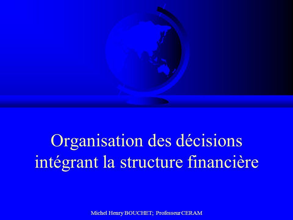 Organisation des décisions intégrant la structure financière