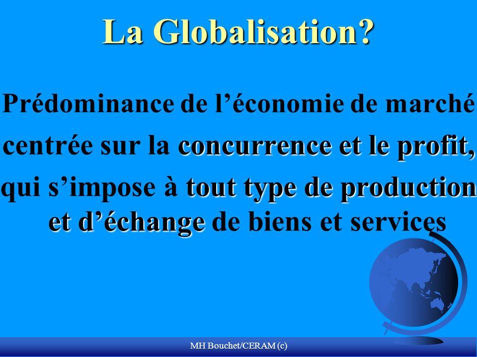 La Globalisation centrée sur la concurrence et le profit,