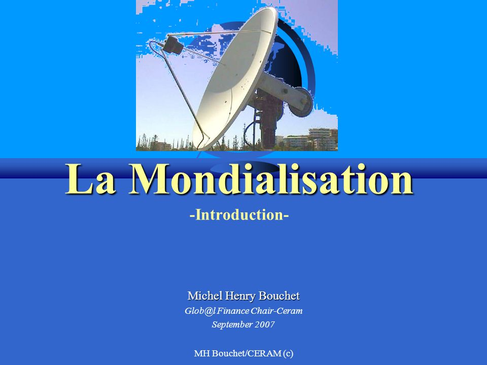 La Mondialisation -Introduction-