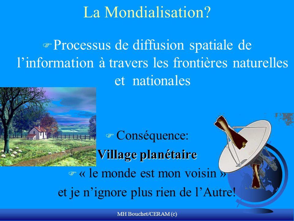 La Mondialisation Processus de diffusion spatiale de l'information à travers les frontières naturelles et nationales.