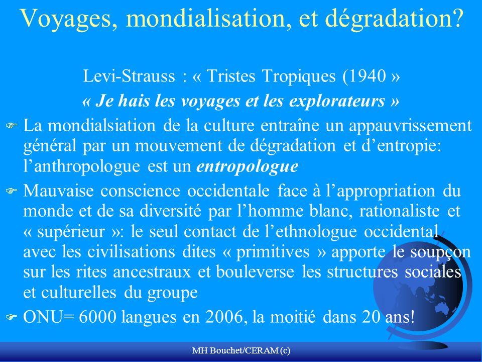 Voyages, mondialisation, et dégradation