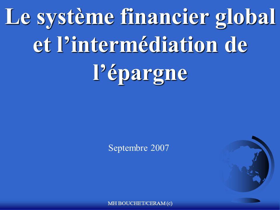 Le système financier global et l'intermédiation de l'épargne