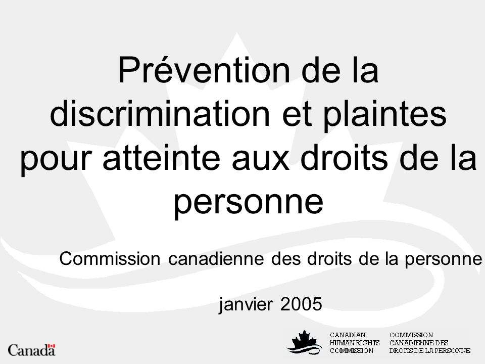 Commission canadienne des droits de la personne