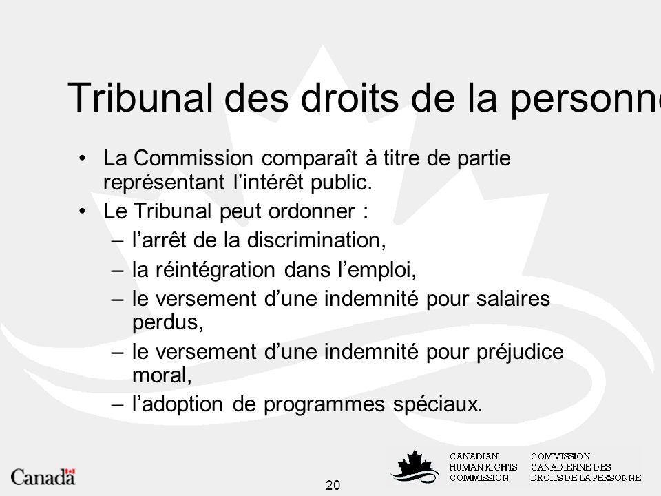 Tribunal des droits de la personne