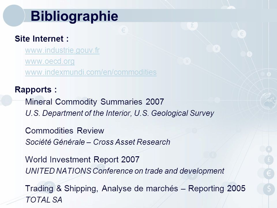 Bibliographie Site Internet : Rapports :