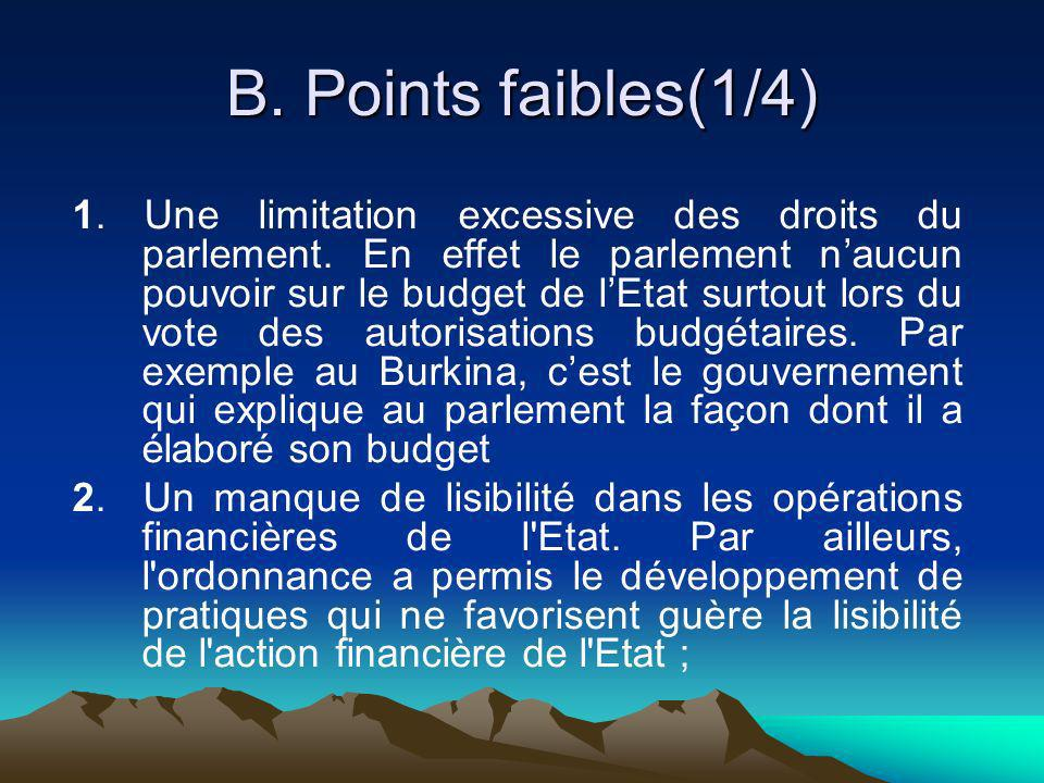 B. Points faibles(1/4)