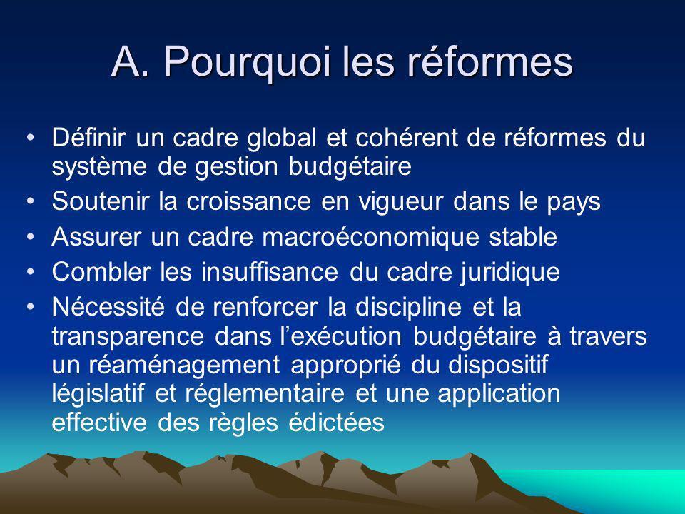 A. Pourquoi les réformes