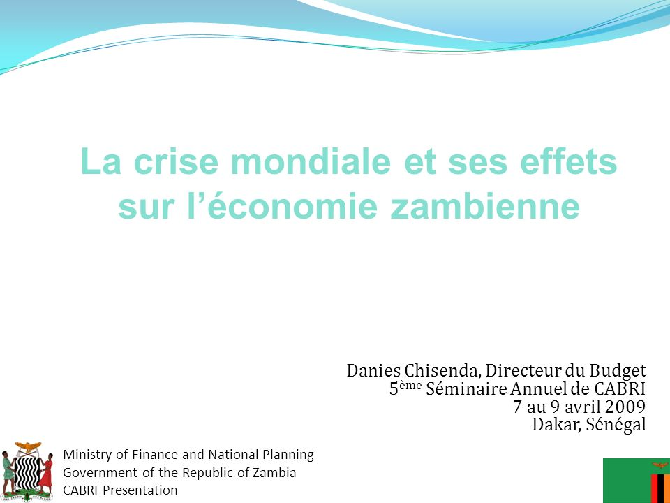 La crise mondiale et ses effets sur l'économie zambienne