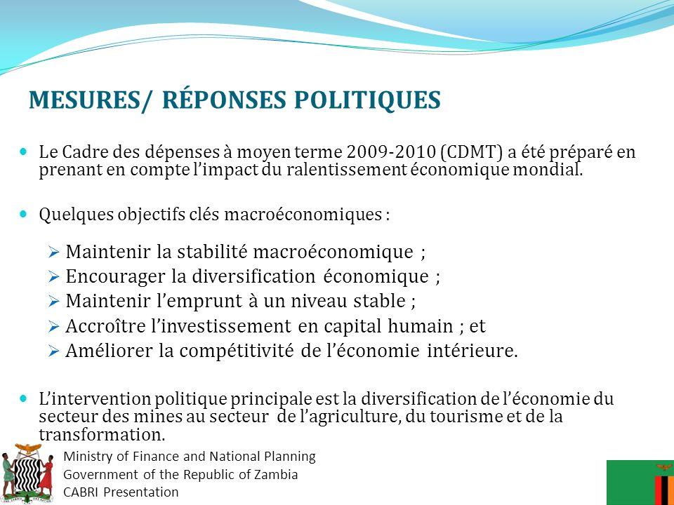 MESURES/ RÉPONSES POLITIQUES