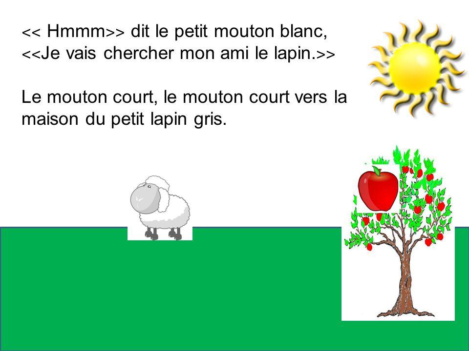 ˂˂ Hmmm˃˃ dit le petit mouton blanc,