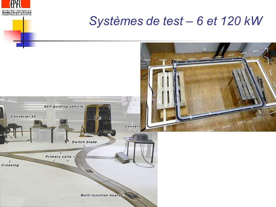 Systèmes de test – 6 et 120 kW