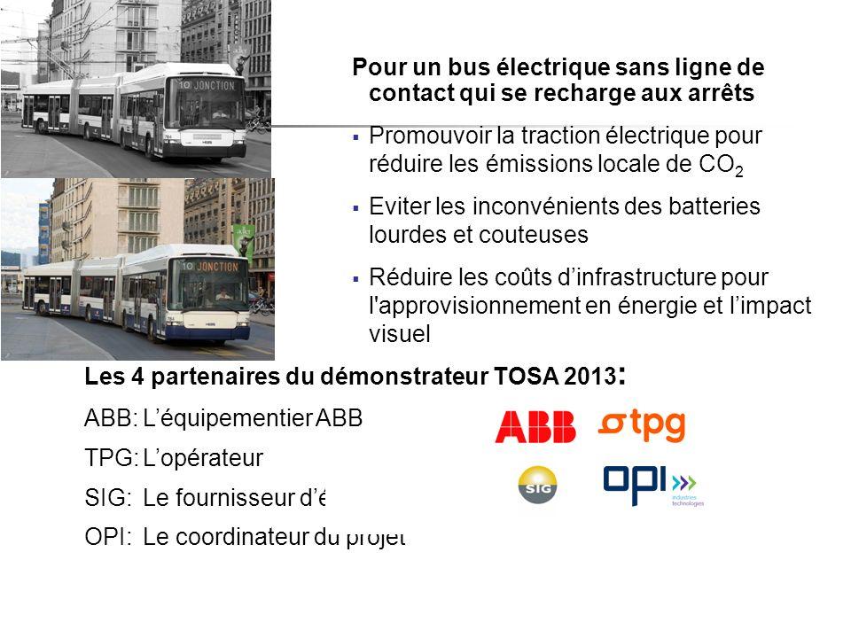 Pour un bus électrique sans ligne de contact qui se recharge aux arrêts