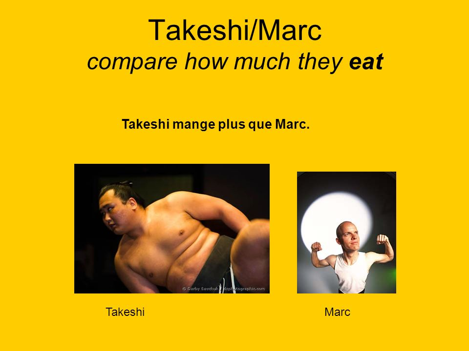 Takeshi/Marc compare how much they eat